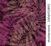 purple color tropical leaves... | Shutterstock .eps vector #1006953892