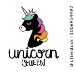 unicorn queen calligraphy and... | Shutterstock .eps vector #1006954492