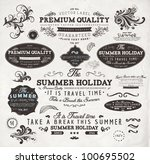 vector set  calligraphic design ... | Shutterstock .eps vector #100695502