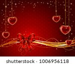valentines background with red...   Shutterstock .eps vector #1006956118