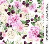 beautiful watercolor pattern... | Shutterstock . vector #1006956532