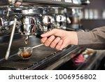 classic barman hand preparing... | Shutterstock . vector #1006956802