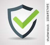 tick mark approved icon vector... | Shutterstock .eps vector #1006957495
