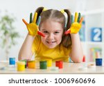 cute child girl have fun... | Shutterstock . vector #1006960696