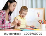 blond smiling child little boy... | Shutterstock . vector #1006960702