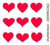 red heart vector icon... | Shutterstock .eps vector #1006961362