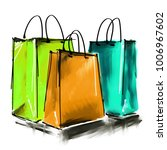 art digital acrylic and... | Shutterstock . vector #1006967602