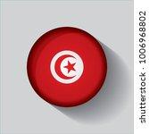 button flag of tunisia in a... | Shutterstock .eps vector #1006968802