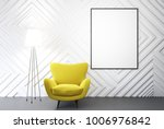 empty white room interior with... | Shutterstock . vector #1006976842