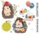 cute little hedgehog baby... | Shutterstock .eps vector #1006978816