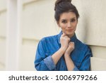 stylish beautiful woman in...   Shutterstock . vector #1006979266