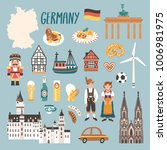 vector icon set of germany's... | Shutterstock .eps vector #1006981975