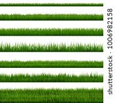 grass border collection | Shutterstock . vector #1006982158