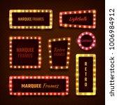 vintage 3d light marquee vegas... | Shutterstock .eps vector #1006984912