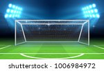 sports stadium with soccer goal ... | Shutterstock .eps vector #1006984972