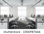 modern office interior with... | Shutterstock . vector #1006987666