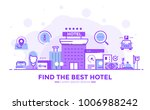 thin line smooth purple and... | Shutterstock .eps vector #1006988242