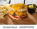 new design delicious white rice ... | Shutterstock . vector #1006992496