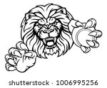 a lion angry animal sports... | Shutterstock . vector #1006995256