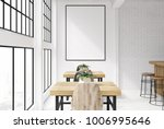 brick and white loft bar... | Shutterstock . vector #1006995646