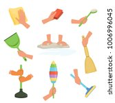 colorful set of human hands... | Shutterstock .eps vector #1006996045