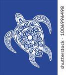 sea turtle in the maori style.... | Shutterstock .eps vector #1006996498