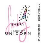 every friday i ride my unicorn... | Shutterstock .eps vector #1006998172