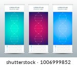 abstract roll up banner for... | Shutterstock .eps vector #1006999852