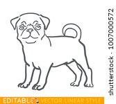 dog zodiac sign. pug chinese...   Shutterstock .eps vector #1007000572