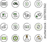 line vector icon set   dollar... | Shutterstock .eps vector #1007001562