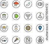 line vector icon set   identity ... | Shutterstock .eps vector #1007004472