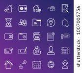 business outline vector icon... | Shutterstock .eps vector #1007005756