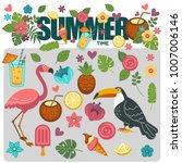 summer poster of exotic... | Shutterstock .eps vector #1007006146