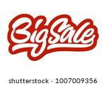 big sale. premium handmade... | Shutterstock .eps vector #1007009356