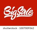 big sale. premium handmade... | Shutterstock .eps vector #1007009362