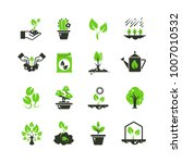 tree sprout and plants vector... | Shutterstock .eps vector #1007010532