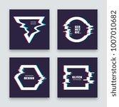 trendy minimalist abstract... | Shutterstock .eps vector #1007010682