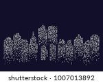 city skyline backgound vector... | Shutterstock .eps vector #1007013892
