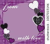 purple background with hearts... | Shutterstock .eps vector #1007015146