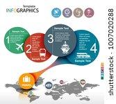 infographic template. travel ... | Shutterstock .eps vector #1007020288