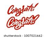 congrats. premium handmade... | Shutterstock .eps vector #1007021662