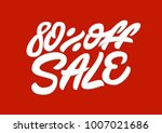 80   off sale. premium handmade ... | Shutterstock .eps vector #1007021686