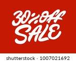 30   off sale. premium handmade ... | Shutterstock .eps vector #1007021692