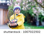 cute adorable little kid boy... | Shutterstock . vector #1007022502