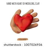 isolated object hand and heart... | Shutterstock .eps vector #1007026936