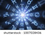 abstract astrology background... | Shutterstock . vector #1007028436