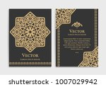 gold vintage greeting card on a ... | Shutterstock .eps vector #1007029942