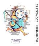 poster  card or t shirt print... | Shutterstock .eps vector #1007031562