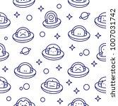 ufo aliens collection ... | Shutterstock .eps vector #1007031742