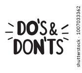 do's and don'ts. vector hand... | Shutterstock .eps vector #1007033362